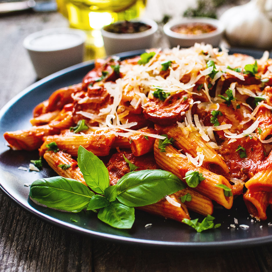 Maple Sausage Penne Pasta