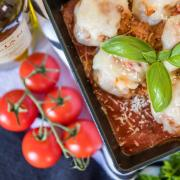 Baked Turkey Meatball Parmesan