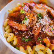 Spicy Shrimp Cavatappi